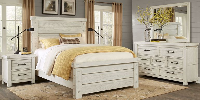 Rustic Haven White 5 Pc King Panel Bedroom