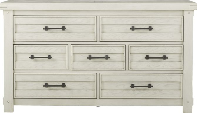 Rustic Haven White Dresser