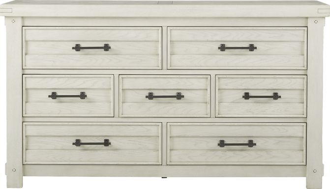 Rustic Haven White Dresser