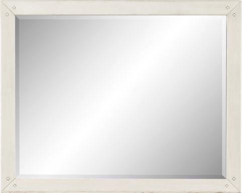 Rustic Haven White Mirror
