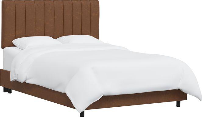 Rustic Saddle I Brown Full Upholstered Bed