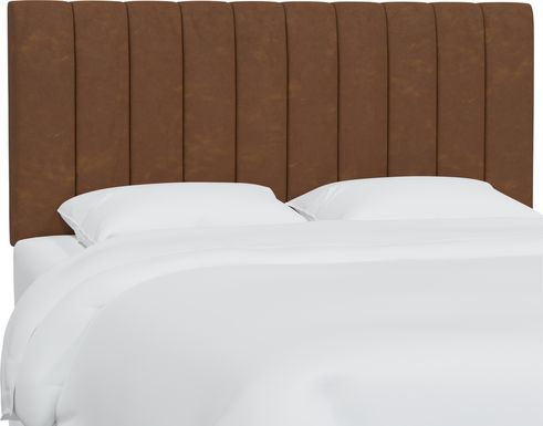 Rustic Saddle I Brown Full Upholstered Headboard