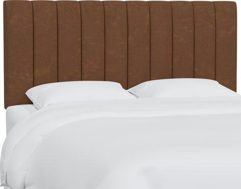 Rustic Saddle I Brown Full Upholstered Headboard