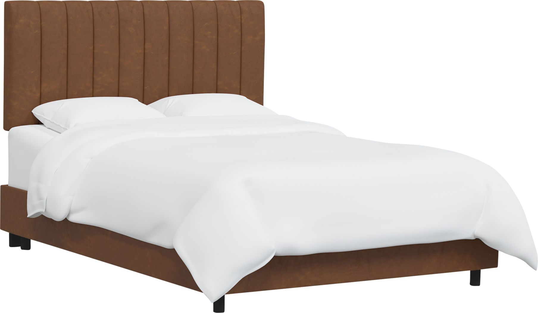 Rustic Saddle I Brown King Upholstered Bed