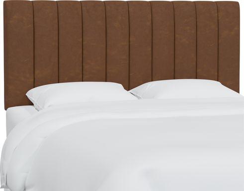 Rustic Saddle I Brown Twin Upholstered Headboard