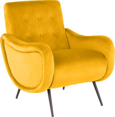 Rutherton Yellow Accent Chair