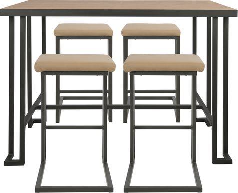 Rutland Camel 5 Pc Counter Height Table Set