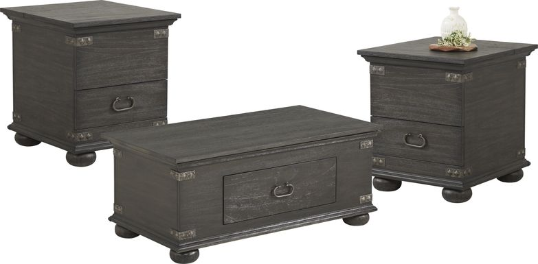 Ryden Black 3 Pc Trunk Table Set