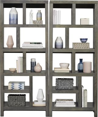 Ryder II Gray 2 Pc Room Divider