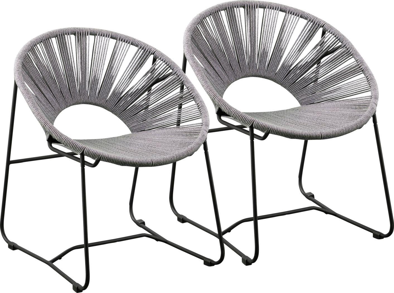Ryegrass Gray Accent Chair, Set of 2