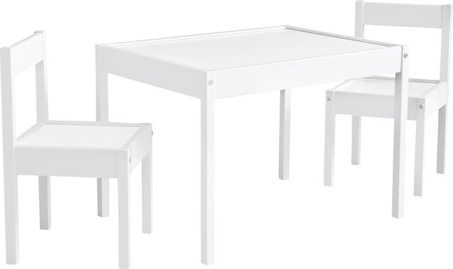 Rylin White 3 Pc Toddler Table Set