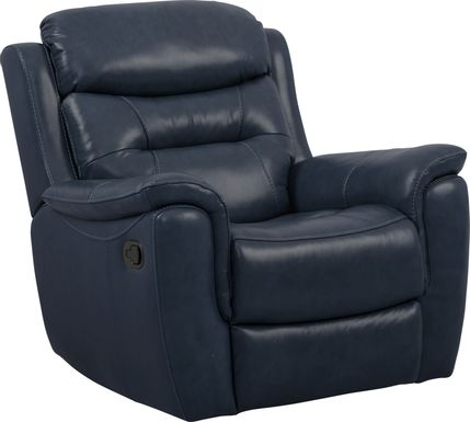 Sabella Navy Leather Glider Recliner