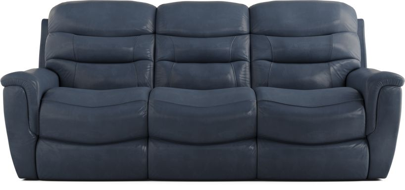 Sabella Navy Leather Power Reclining Sofa