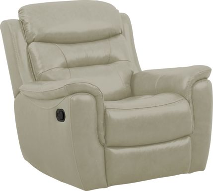Sabella Stone Leather Glider Recliner