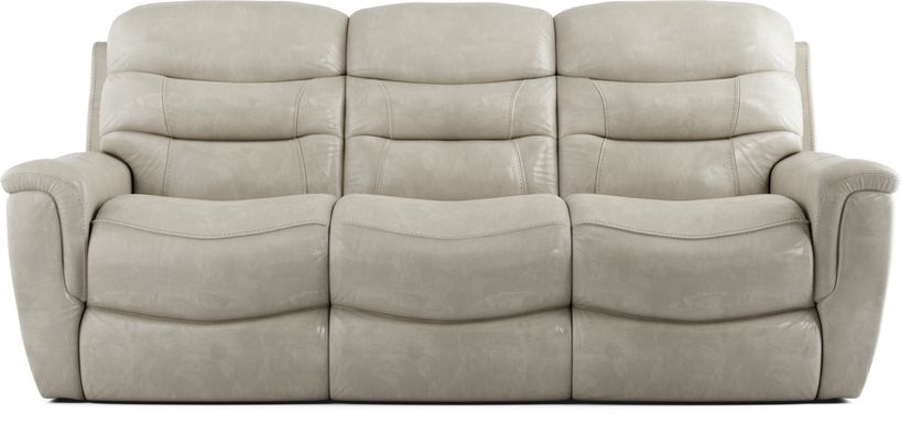 Sabella Stone Leather Reclining Sofa