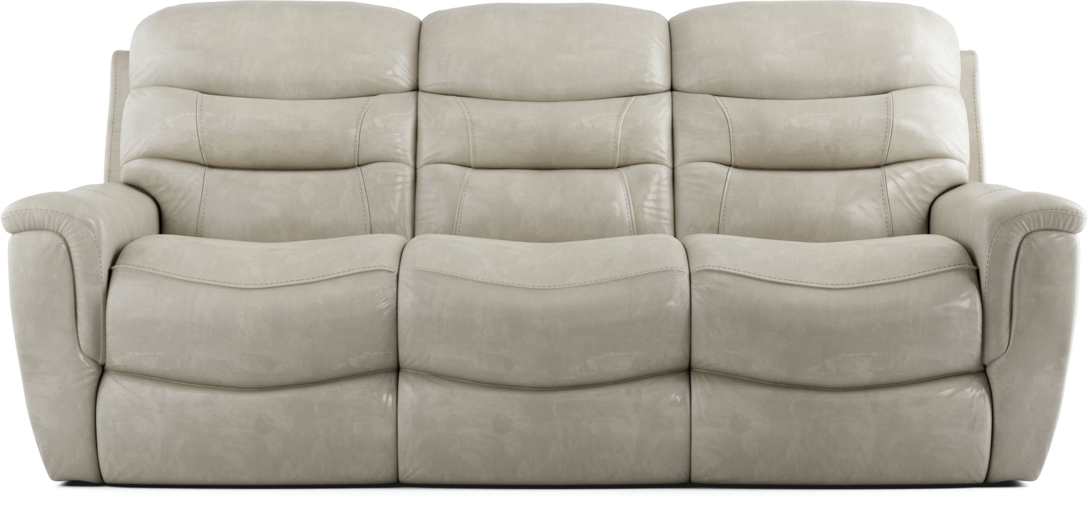 Sabella Stone Leather Reclining Sofa