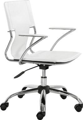 Sacher White Office Chair