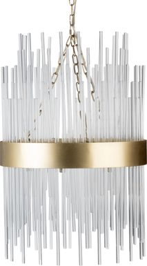 Saddleback Cove Gold Chandelier