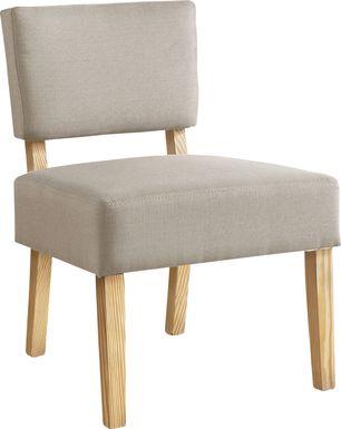Saintmarks Beige Accent Chair