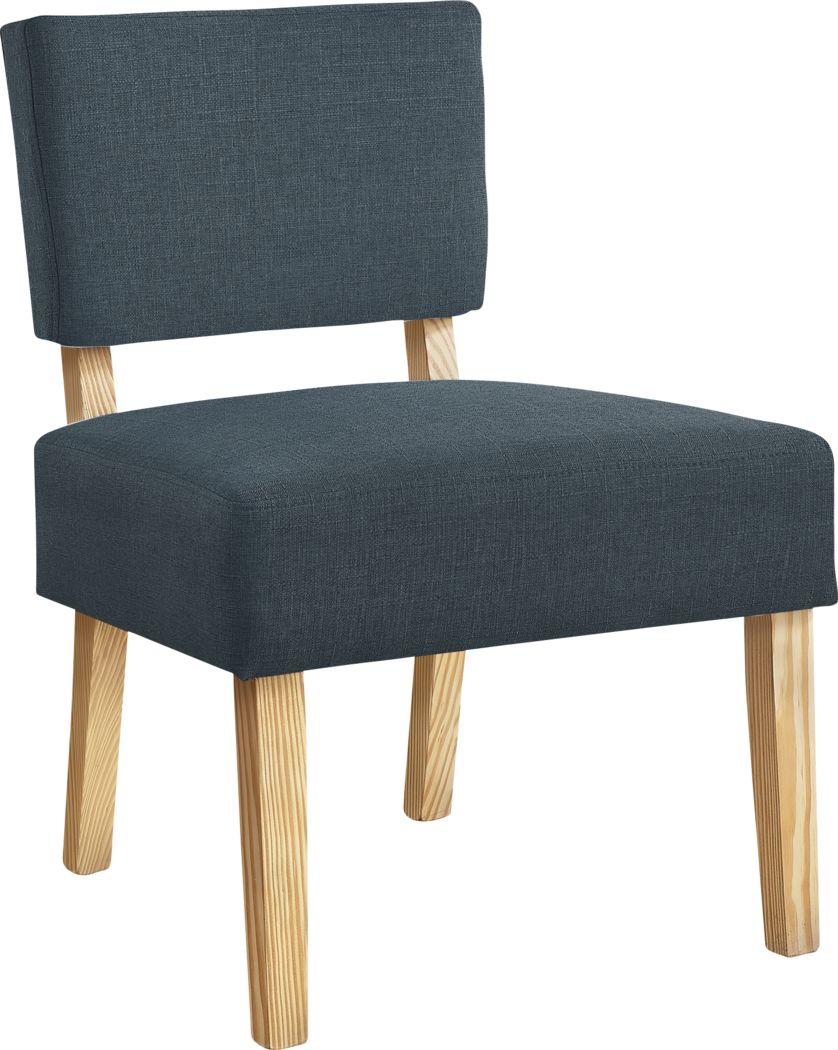 Saintmarks Dark Blue Accent Chair