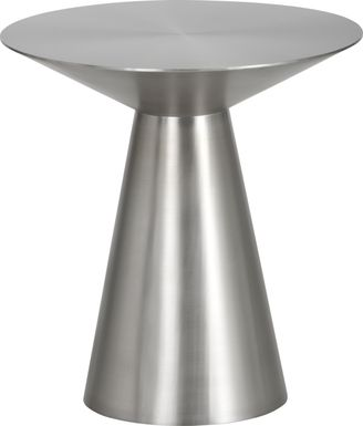 Saliba Silver Side Table