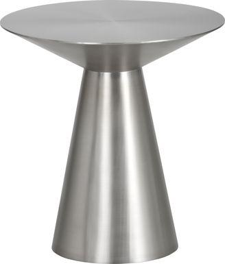 Saliba Silver Side Table