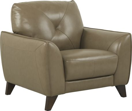 Salviano Beige Leather Chair