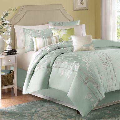 Samer Green 7 Pc California King Comforter Set