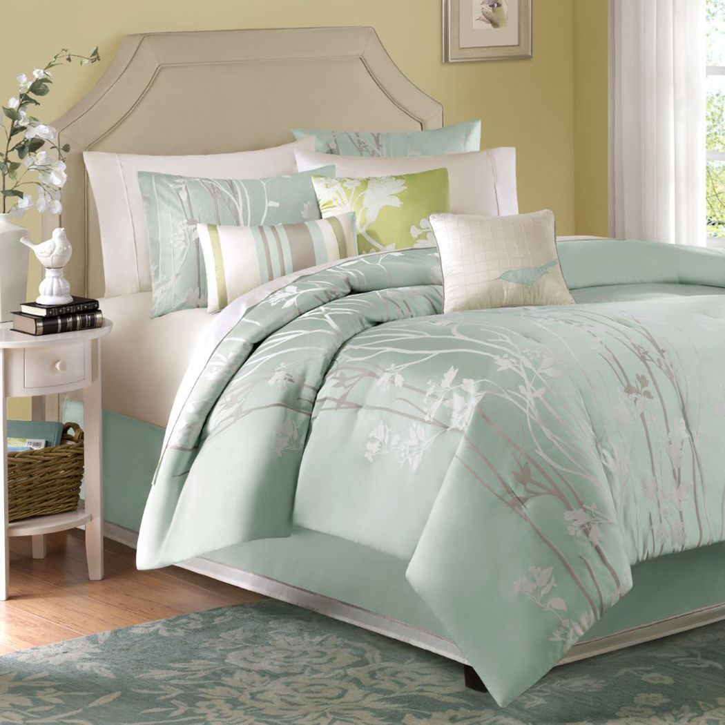 Samer Green 7 Pc King Comforter Set