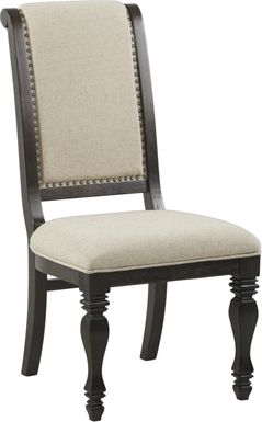 San Luis Oak Sleigh Side Chair