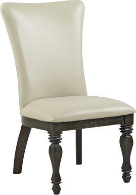 San Luis Oak Upholstered Side Chair