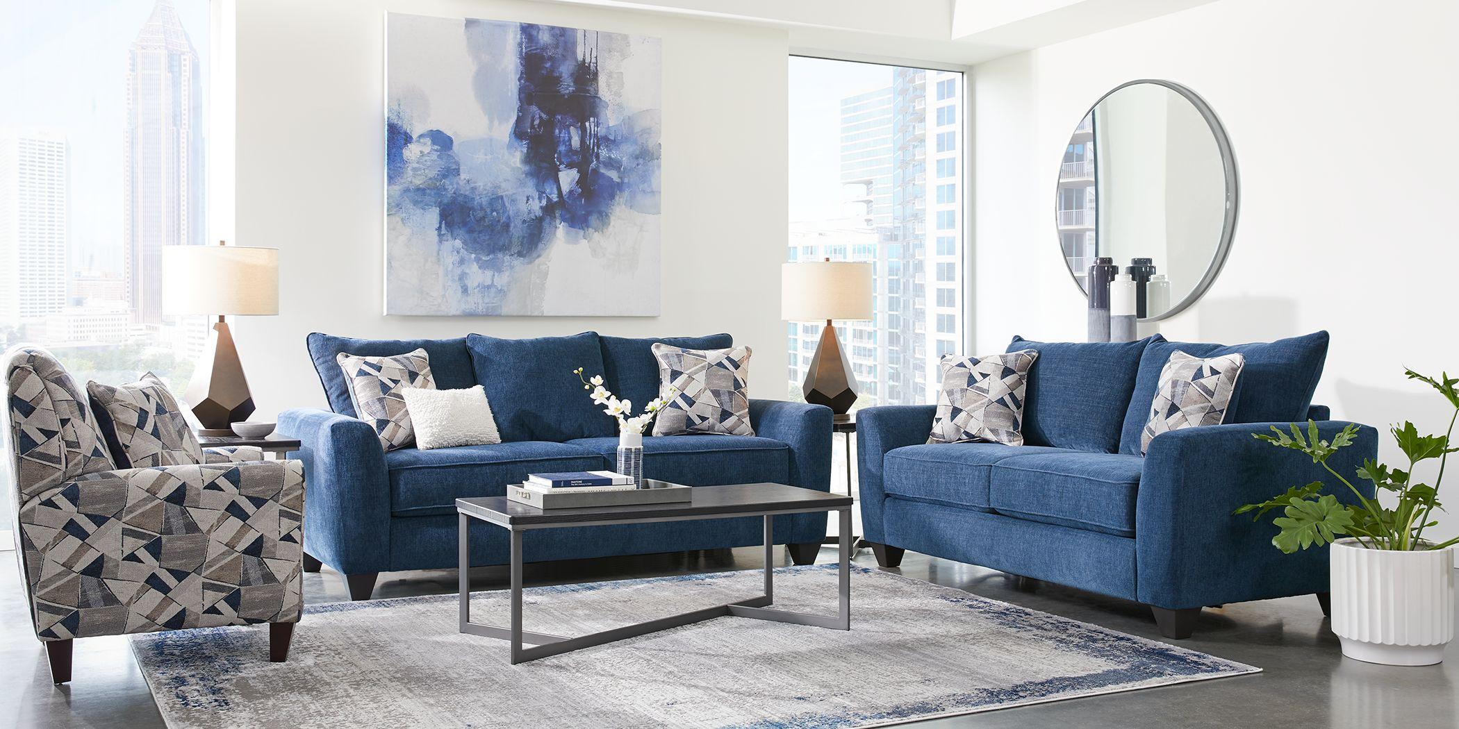 Sandia Heights Blue 2 Pc Living Room