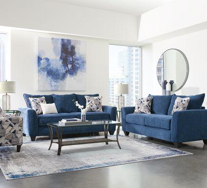 Sandia Heights Blue 7 Pc Living Room