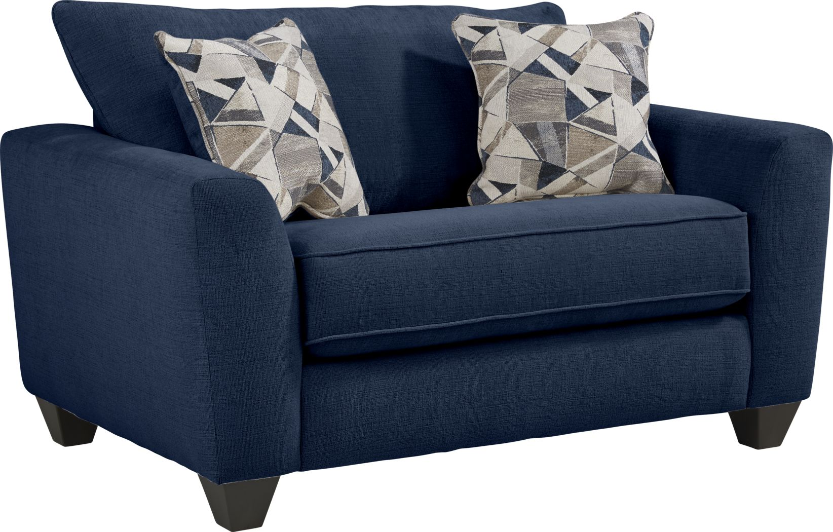 Sandia Heights Blue Gel Foam Sleeper Chair