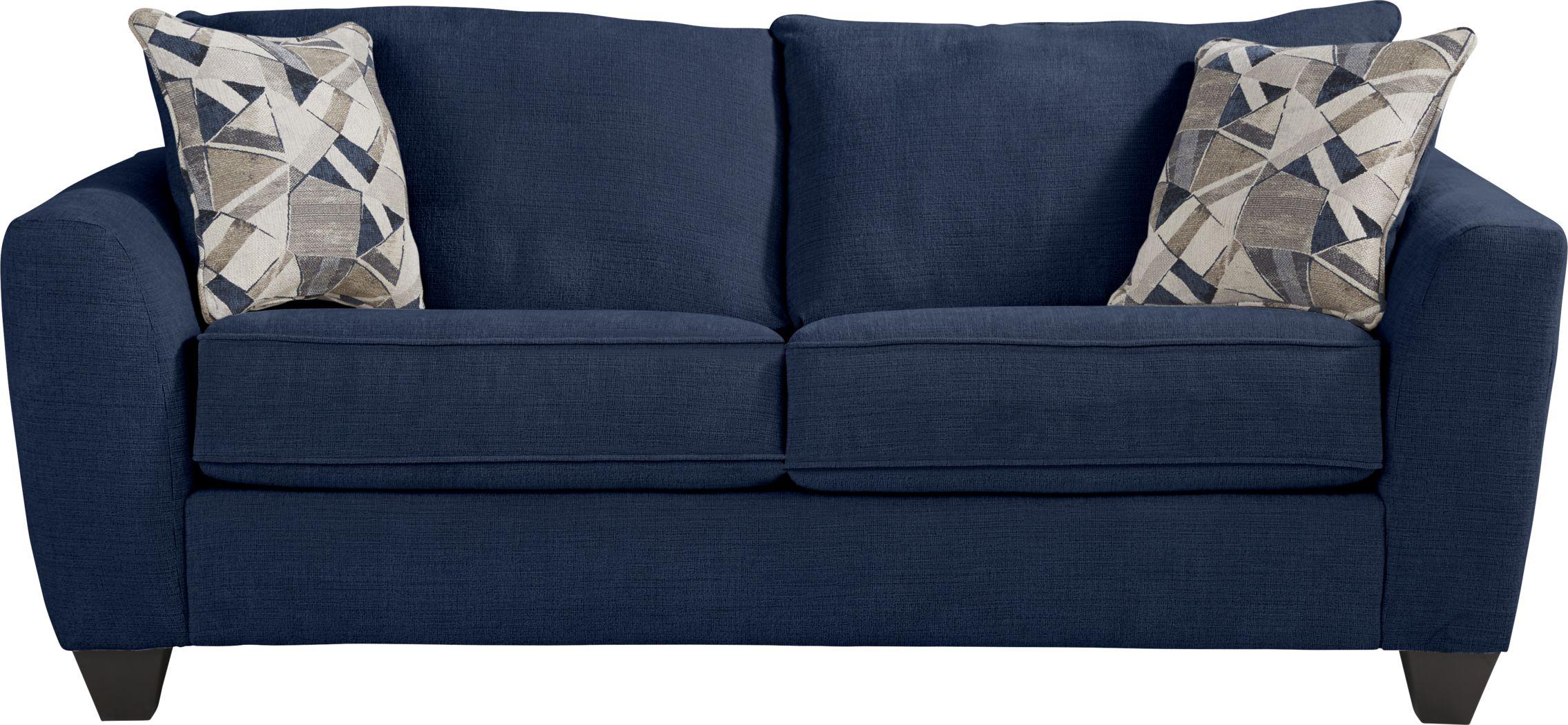 Sandia Heights Blue Sleeper Loveseat