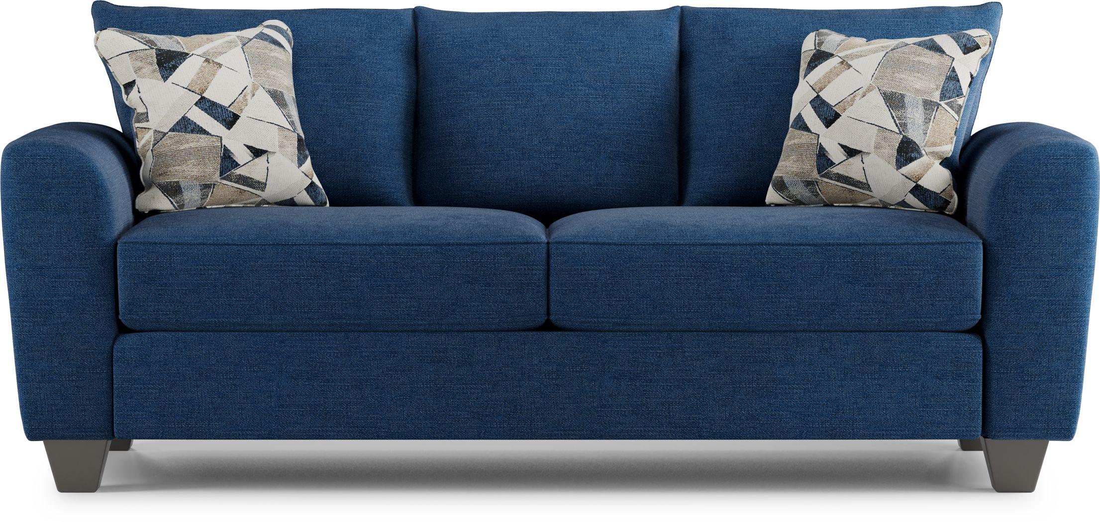 Sandia Heights Blue Sofa