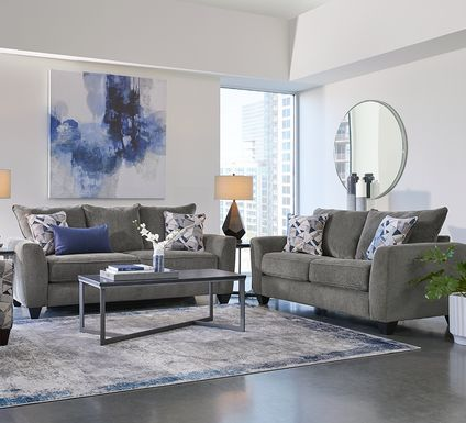 Sandia Heights Gray 2 Pc Living Room