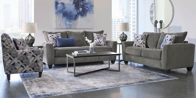 Sandia Heights Gray 7 Pc Living Room