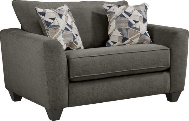 Sandia Heights Gray Gel Foam Sleeper Chair