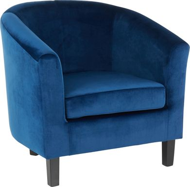 Sandifer Blue Accent Chair