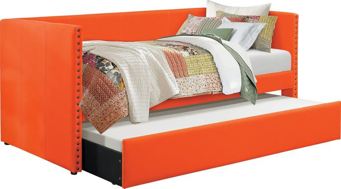 Sanford Way Orange Daybed with Trundle