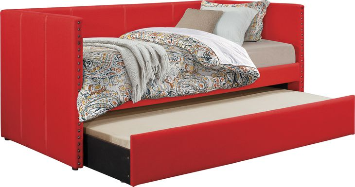 Sanford Way Red Daybed with Trundle