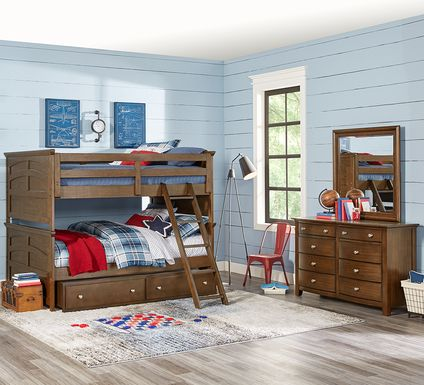 Santa Cruz Brown Cherry Full/Full Bunk Bed