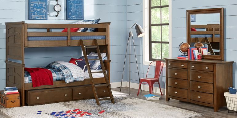 Santa Cruz Brown Cherry Twin/Twin Bunk Bed