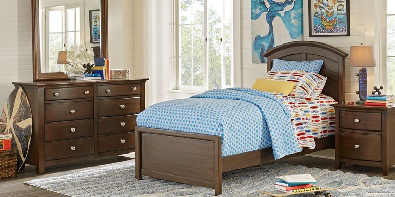 Kids Santa Cruz Cherry 5 Pc Full Panel Bedroom