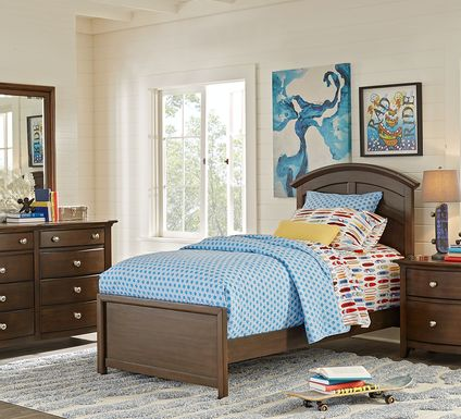 Kids Santa Cruz Cherry 5 Pc Twin Panel Bedroom