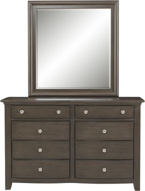 Kids Santa Cruz Gray Dresser & Mirror Set