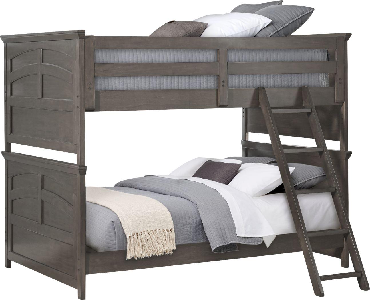 Santa Cruz Gray Full/Full Bunk Bed