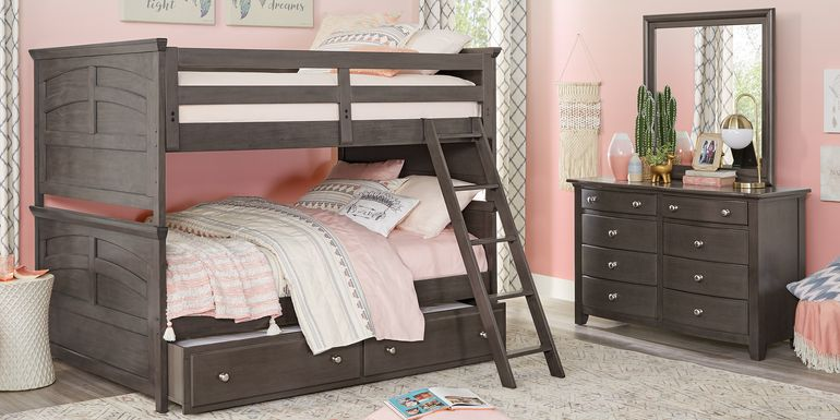 Santa Cruz Gray Full/Full Bunk Bed