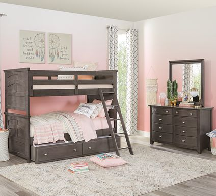 Santa Cruz Gray Twin/Twin Bunk Bed